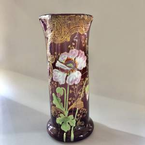 Amethyst Glass Vase by Legras
