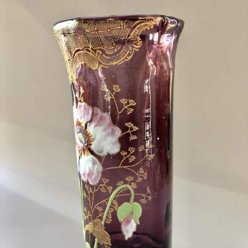 Amethyst Glass Vase by Legras image-5