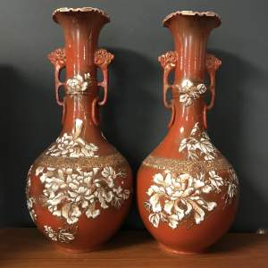 Pair of 19th Century Japanese Kutani Vases