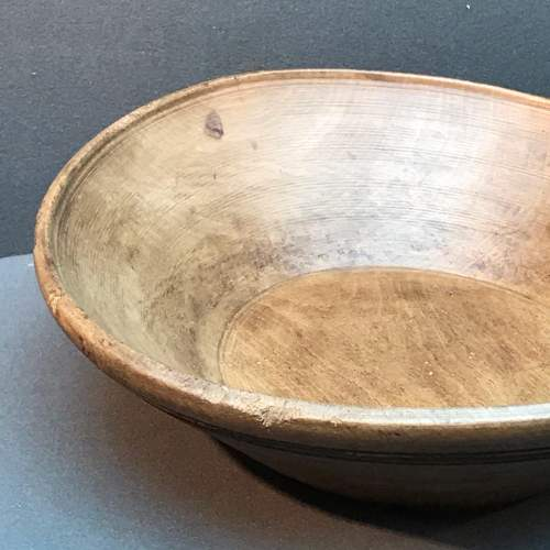 Early 19th Century French Sycamore Dairy Bowl image-2