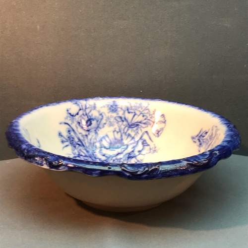 Victorian Flow Blue Wash Basin image-1