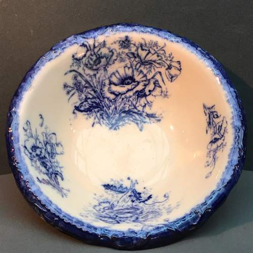 Victorian Flow Blue Wash Basin image-2
