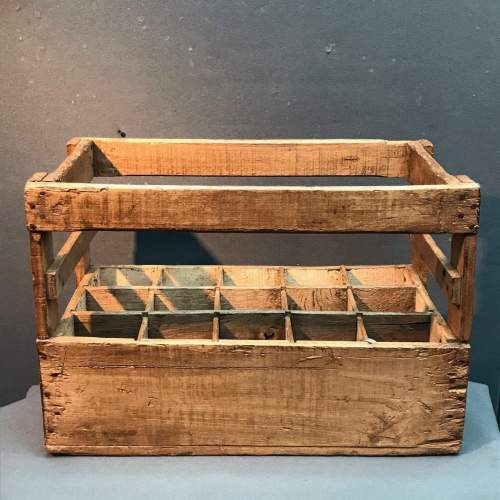 Vintage French Wooden Wine Bottle Crate image-4