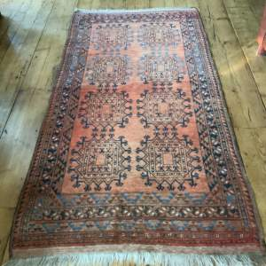 Old Hand Knotted Afghan Village Rug Superb Colours And Design