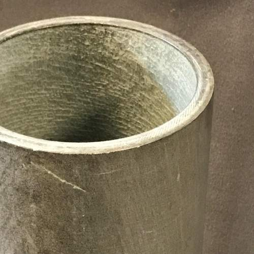 Large Slate Cylinder Vase With Carved Figure Decoration by Mattiali Bagialo image-3