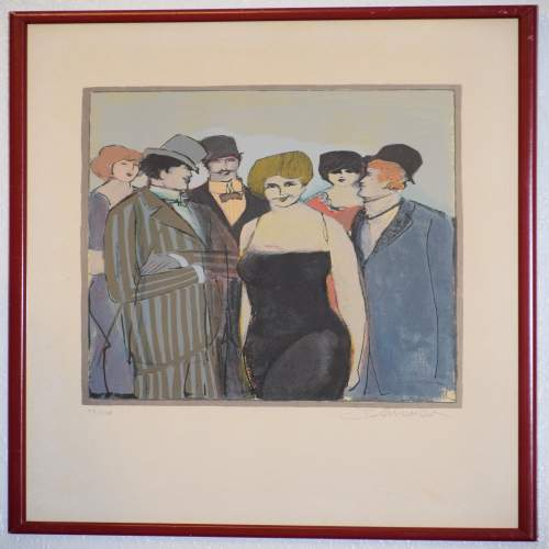 Lady With A Group by David Schneuer 1905 – 1988  48/250 image-1