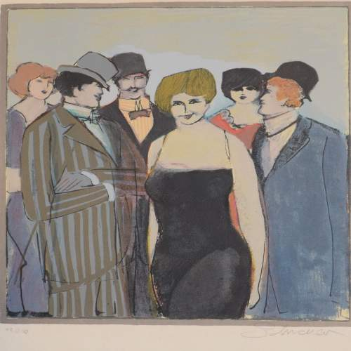 Lady With A Group by David Schneuer 1905 – 1988  48/250 image-2