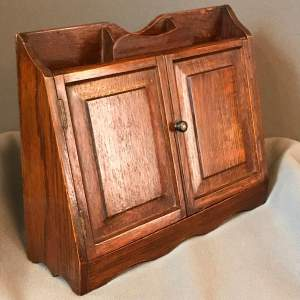 Late 1800s Oak Pipe Smokers Cabinet
