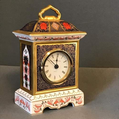 Royal Crown Derby Old Imari Pattern Clock image-1