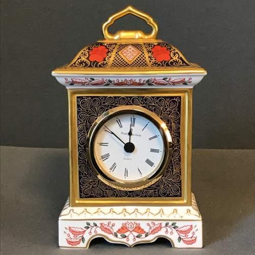 Royal Crown Derby Old Imari Pattern Clock image-2