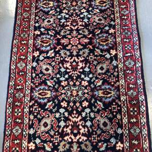 Old Hand Knotted Persian Runner Tabriz Repeating All Over Design