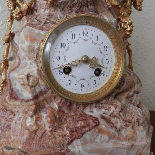 French 8-Day Gilded Bronze and Marble Clock image-2