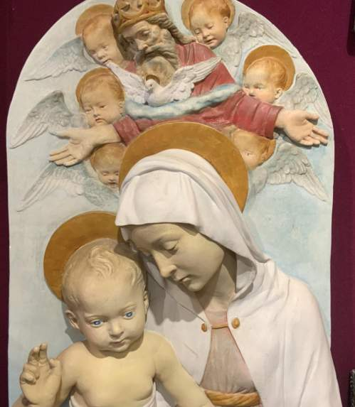 Unusual French Religious Wall Plaque image-4