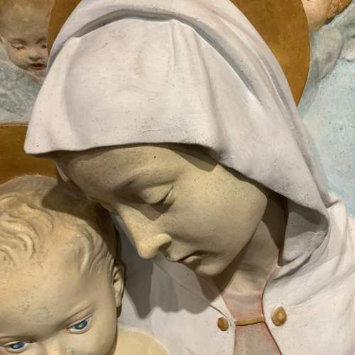 Unusual French Religious Wall Plaque image-2