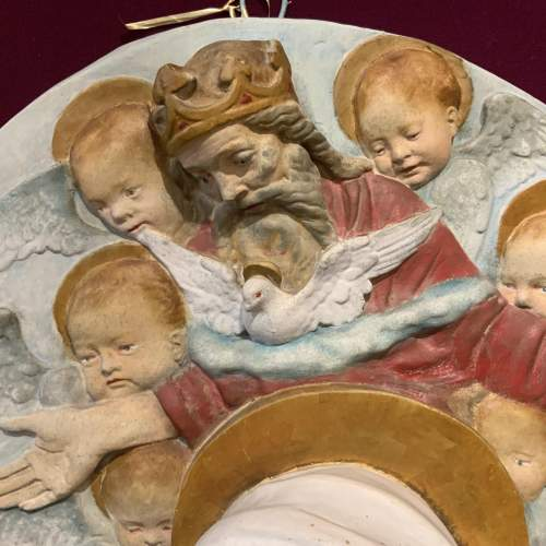 Unusual French Religious Wall Plaque image-1