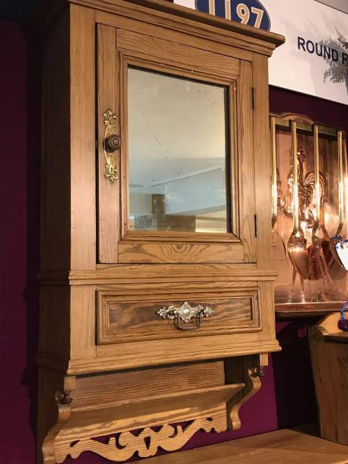 French Pitch Pine Wall Cabinet image-5