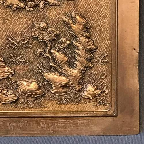 Decorative Signed Chinese Copper Panel image-4
