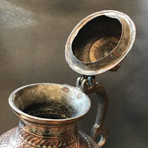 Decorative Middle Eastern Copper Tea Pot image-2