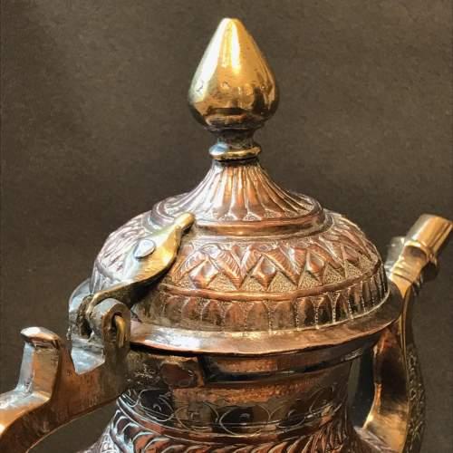 Decorative Middle Eastern Copper Tea Pot image-4