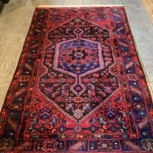 Old Hand Knotted Persian Rug Hamadan Central Medallion Design