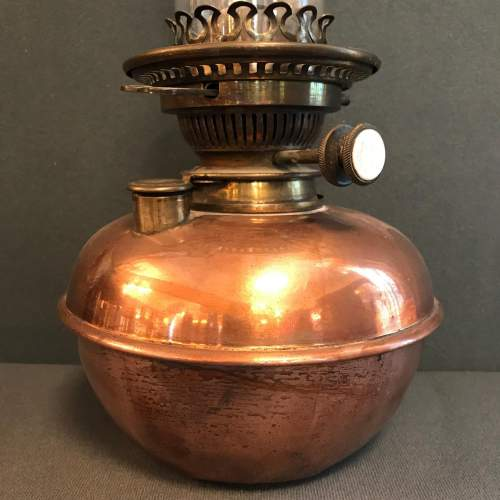 Copper and Brass Oil Lamp image-2