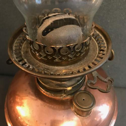 Copper and Brass Oil Lamp image-4