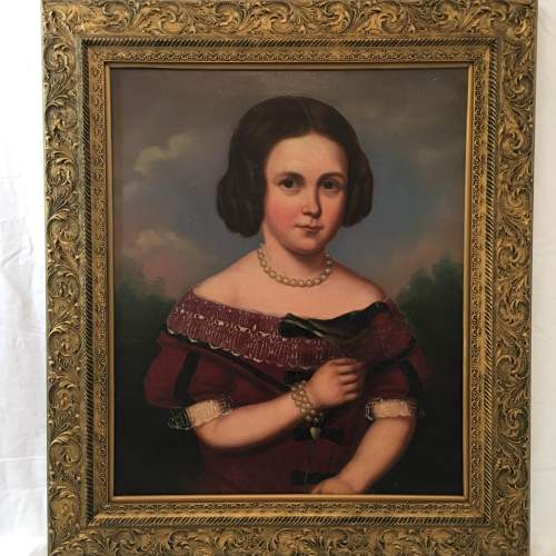 English School Stunning Mid 19th Century Oil Painting Portrait Of Mary image-1