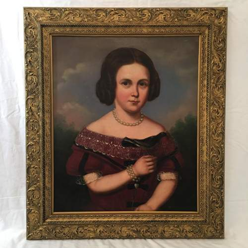 English School Stunning Mid 19th Century Oil Painting Portrait Of Mary image-5