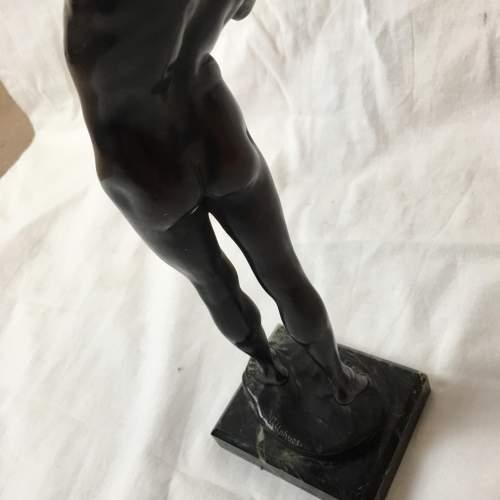 19th Century Bronze Figure Hercules by Joseph Upheus image-5