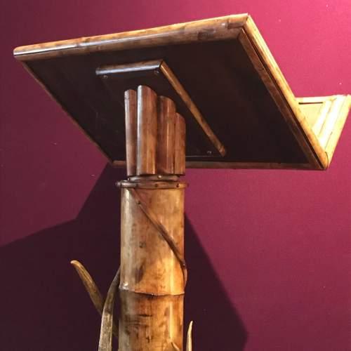19th Century Boho Style Bamboo Lectern image-4