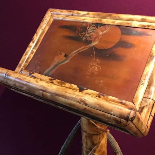 19th Century Boho Style Bamboo Lectern image-5