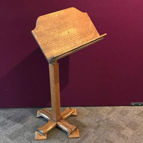 Gothic Revival Victorian Oak Music Stand image-1