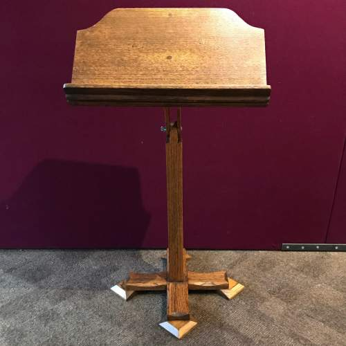 Gothic Revival Victorian Oak Music Stand image-4