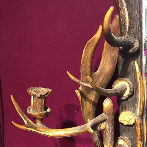 Large 19th Century Black Forest Antlers Mirror image-3