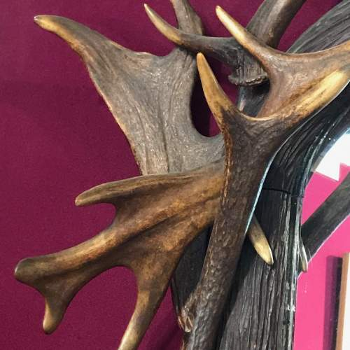 Large 19th Century Black Forest Antlers Mirror image-6