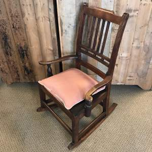 Fruitwood Nursing Rocking Chair