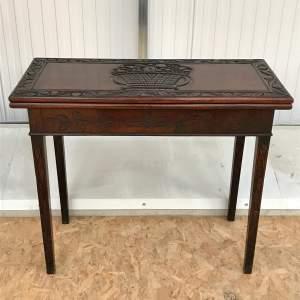 18th Century Red Walnut Foldover Tea Table