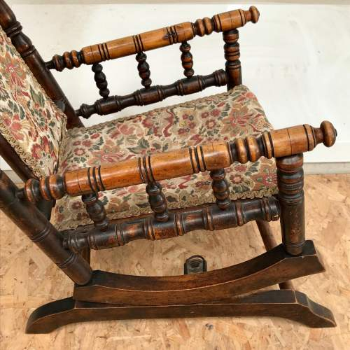 Antique American Style Childs Rocking Chair image-4