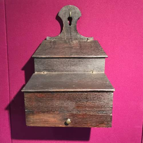 Queen Anne Period Wall Mounted Oak Storage Box image-1