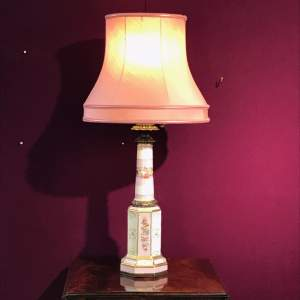19th Century French Porcelain Lamp