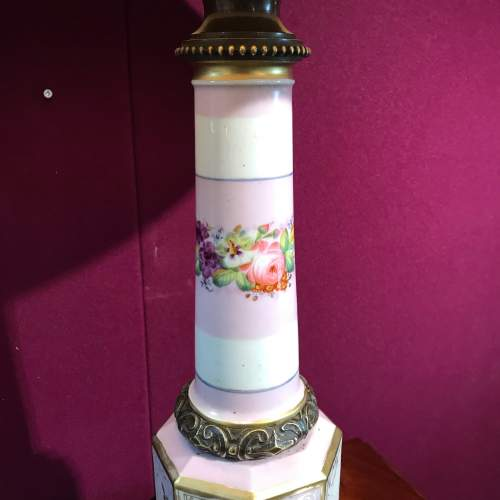19th Century French Porcelain Lamp image-3