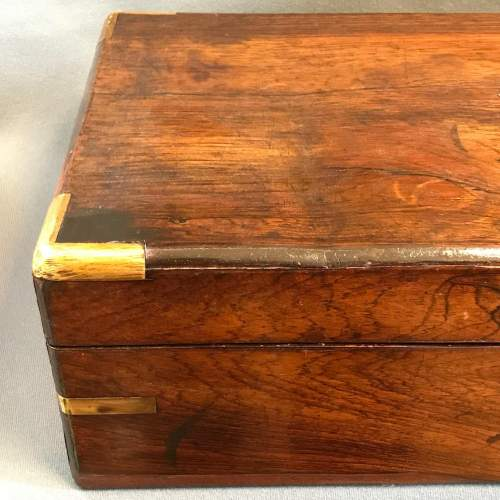 Victorian Rosewood Travelling Writing Box image-4