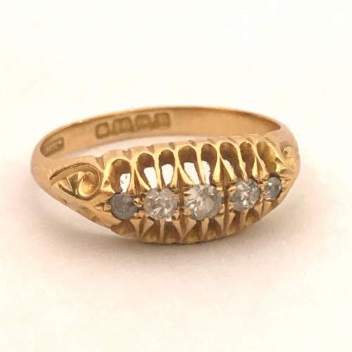Early 1900s Gold Diamond Ring image-1