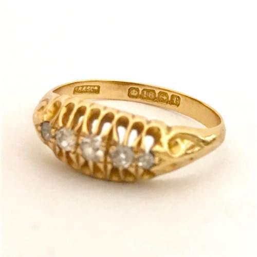 Early 1900s Gold Diamond Ring image-2