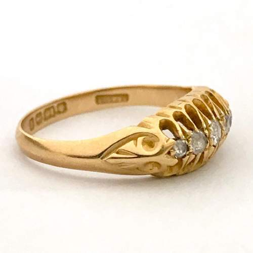 Early 1900s Gold Diamond Ring image-4