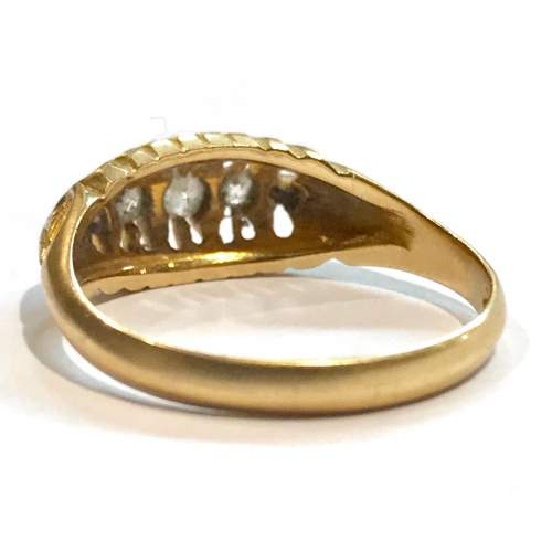 Early 1900s Gold Diamond Ring image-5