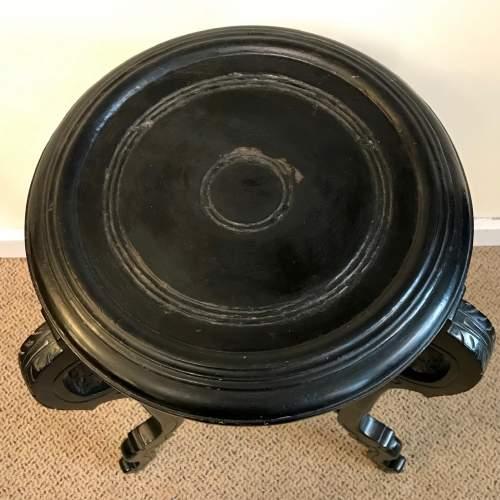 Victorian Ebonised Hardwood Torchere image-2