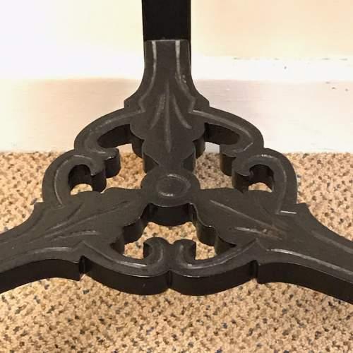 Victorian Ebonised Hardwood Torchere image-4