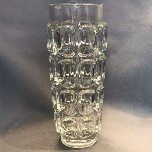 Libochovice Czech Clear Pressed Glass Vase image-1