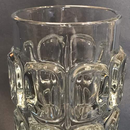 Libochovice Czech Clear Pressed Glass Vase image-2